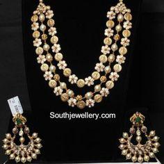 floral kasu pacchi necklace