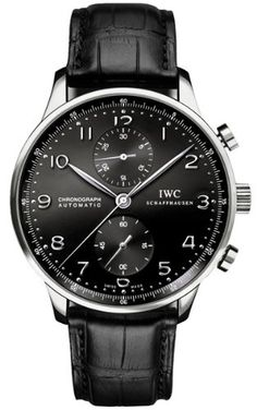 NEW IWC PORTUGUESE CHRONOGRAPH AUTOMATIC MENS WATCH IW371447: Watches: www.girardperregauxwatches.com