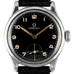 ref. 101.81217, Military style dial.  Omega was founded in 1848 by Louis Brandt at the age of 23. The brand's reputation grew fast and in 1895 the watches achieved a precision of 30 seconds a day.