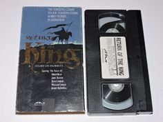 1980 The Return of the King Animated Film VHS Tape The Lord Of The Rings