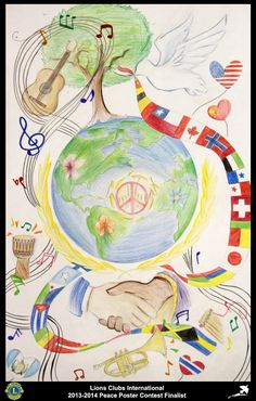 Finalist from Mississippi, USA (Crystal Springs Lions Club) - 2013-2014 Peace Poster Contest