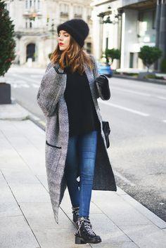 long grey winter coat
