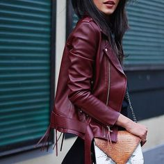 Burgundy is the new black. // Follow @ShopStyle on Instagram to shop this look