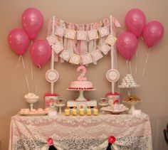 "Birthday ""Shabby Chic 2nd Birthday Party"""