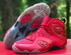 e4ddf1cb27c0c7 Buy Nike Zoom Rookie 472688-601 NSW Basketball Penny Foamposite LWP Red US  9.5 online
