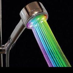 rainbow shower head...Amazon.com