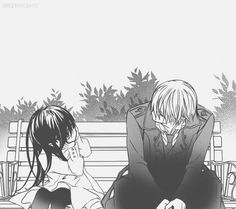 Vampire Knight. My favourite ever Manga/anime. No matter how many times I read or watch it I never get tired. Long live VK