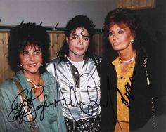 Michael Jackson, Elizabeth Taylor, and Sofia Loren