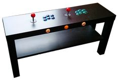 2 player retro gaming table