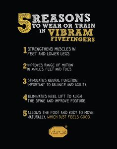5 Reasons To Wear Vibram Fivefingers
