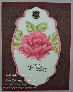 stampin up stippled blossoms   Stampin' Up! Stippled Blossoms   Glendas Blog
