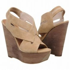 SALE - Steve Madden Banndo Wedge Heels Womens Taupe Leather - Was $189.00 - SAVE $28.00. BUY Now - ONLY $160.65