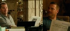 """NCIS Los Angeles """"Tuhon"""" Picture Recap By @sindee303 - Side note: Anyone else noticed that Callen was reading some sort of Arabic (?) Newspaper in the morning and an Italian one in the evening?? [Yeah, I'm *that kind of* fan... ;p]"""