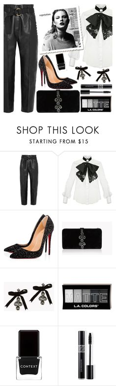 """""""Taylor"""" by chey-love ❤ liked on Polyvore featuring Petar Petrov, Elisabetta Franchi, Christian Louboutin, Dsquared2, Context and Christian Dior"""