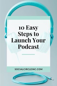 Looking to start a podcast but feeling daunted by the whole process? It's not as difficult as you may think. Here's how to start a podcast in 10 easy steps Marketing Plan, Content Marketing, Social Media Marketing, Inbound Marketing, Marketing Strategies, Business Marketing, Podcast Topics, Podcast Setup, Podcast Ideas