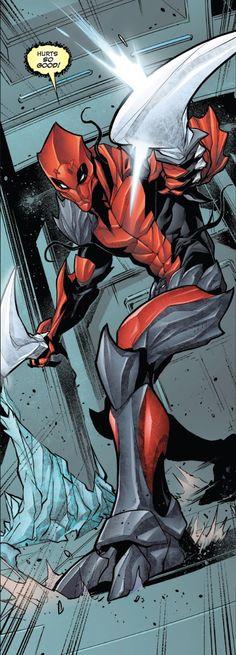 Wade Wilson/ Poison Venompool (Venomverse No.3) Deadpool X Spiderman, Deadpool Funny, Marvel Venom, Marvel Vs, Symbiotes Marvel, Deadpool Costume, Hq Dc, Cute Cartoon Drawings, Man Thing Marvel