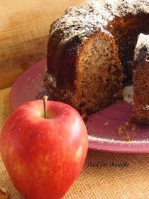 Food for thought: Κέικ Μήλου Greek Sweets, Greek Desserts, Apple Cinnamon Cake, Apple Cake, Apple Pie Recipes, Sweet Recipes, Tea Cakes, Cupcake Cakes, Cypriot Food