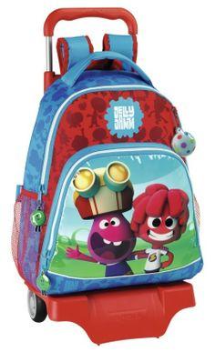 Jelly Jam - Mochila Grande con Ruedas. Artículo licenciado y original de la serie de televisión infantil Jelly Jam. Dimensiones: 33 cm x 41 cm x 15 cm.