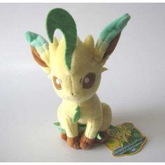 Pokemon 2012 Leafeon Takara Tomy Plush Toy... Adorable!