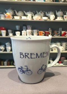 Fahrrad Bremen, vielleicht dazu eine Tüte mit Fernweh Tee? Mugs, Tableware, Bremen, Tablewares, Bicycle, Tips, Dinnerware, Tumblers, Mug