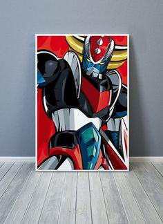 CLOSE UP GOLDORAK - tirage d'art 50x75