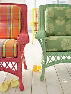 How To Spray Paint Wicker | Spray Paint Wicker, Painted Wicker And Spray  Painting