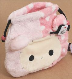 pink Sentimental Circus rabbit plush pouch bento bag 2