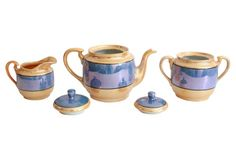 Lusterware Tea Set, 16-Pcs