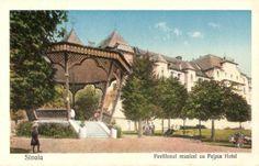 Sinaia - Pavilionul muzicei cu Palace Hotel - 1910