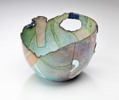 ● Judy Stone ● Wonderful coloring and the piece looks very light and translucent.  I'd like to see her pieces in person.