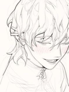 Anime Drawings Sketches, Anime Sketch, Pretty Art, Cute Art, Manga Art, Anime Art, Poses References, Digital Art Tutorial, Boy Art