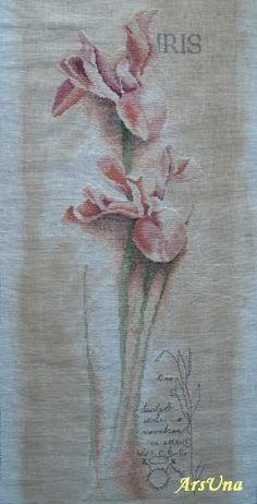 Вышивка крестом ирис ланарте ботанический