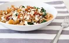 The Recipe: Healthy Whole Wheat Pasta with Pear, Almond & Feta | The LUXE LifeThe LUXE Life