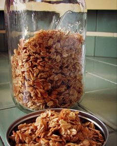 Home made Honey-Vanilla Granola. No more over sugared cereal for this girl.