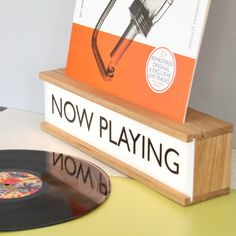 NOW PLAYING - wooden light box – Nick James Design Vinyl Record Display, Vinyl Record Storage, Lp Storage, Record Decor, Vinyl Record Holder, Record Shelf, Chill Lounge, Record Stand, Record Players
