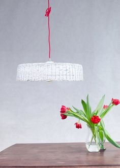 White hanging eco lamp Minimal simple pendant lamp eco friendly Modern ceiling lampshade Home decor Unique Sistainable - Hoc Big White lamp.