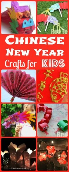 Planning Chinese New Year? Be inspired by this set of lovely Chinese New Year's Crafts! Lots to explore and choose from! nouvel an chinois Chinese New Year Crafts For Kids, Chinese New Year Activities, Chinese Crafts, New Years Activities, Craft Activities, Art For Kids, Multicultural Activities, Asian Crafts, Chinese New Year Decorations