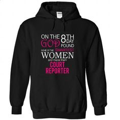 On the 8th day God found some of the smart women and made them COURT REPORTER #fashion #T-Shirts. SIMILAR ITEMS => https://www.sunfrog.com/LifeStyle/On-the-8th-day-God-found-some-of-the-smart-women-and-made-them-COURT-REPORTER-8025-Black-22574883-Hoodie.html?id=60505