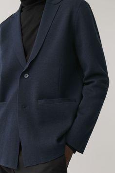 COS image 2 of Lightweight boiled wool jacket in Dark Grey