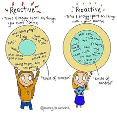 "Your Reactive ""circle of concerns"" and your Proactive ""Circle of control"""