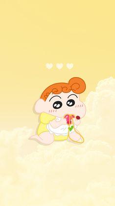 안녕하세요! 드디어 월요일이 지나갔네요... 이번 주도 힘냅시다! (ง •̀_•́)&... Crayon Shin Chan, Sinchan Wallpaper, Kawaii Wallpaper, Sinchan Cartoon, Happy Stickers, Watercolor Disney, Tsumtsum, Friends Wallpaper, Kids Shows