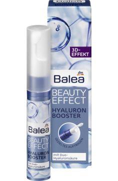 Der Balea Beauty Effect Hyaluron Booster mit Hyaluronsäure verhindert Feuchtigkeitsverluste der Haut und polstert Fältchen systematisch von innen auf. Die...
