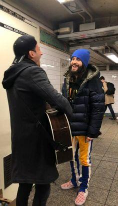 Jared Leto and Stevie Aiello in NYC. Shannon Leto, Jared Leto, Canada Goose Jackets, Winter Jackets, Nyc, Fashion, Moda, Winter Vest Outfits, La Mode