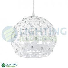 2 Light Eglo Hanifa Metal Flower And Crystal Pendant Light Crystal Beads, Crystals, Crystal Pendant Lighting, Metal Flowers, Reno, Flower Pendant, Compliments, Pendants, Ceiling Lights