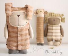 Bunni BIG Design Doll love these floppy eared dog,monkey and rabbit plushie toys