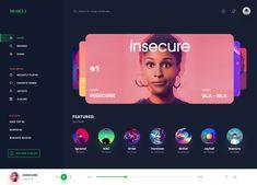 png by Manoj Rajput Web Ui Design, Dashboard Design, Website Design Layout, Web Layout, Slider Design, Software, Music App, Ui Design Inspiration, Ui Web