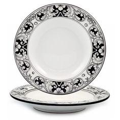 DERUTA - 'VARIO, NERO' Collection - Pasta/Soup Rim Bowl | Artistica Italian Ceramics
