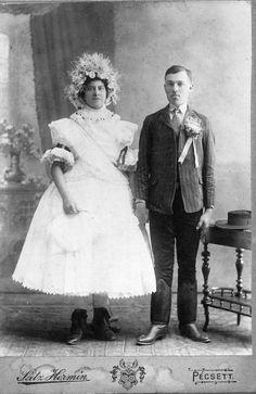 Hosszúhetényi esküvői viselet.