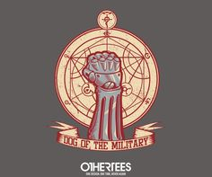 """""""Dog of the Military: Full Metal"""" by Latvilous T-shirts, Tank Tops, V-necks, Sweatshirts and Hoodies are on sale until March 6th at www.OtherTees.com #fullmetalalchemist #anime #manga #othertees"""