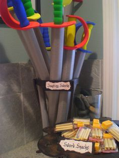 Medieval party swords